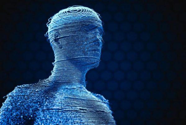 Holograma figura humana