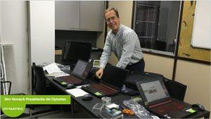 Teletrabajo | Jim Novack, presidente de Dynatec preparando los equipos para trabajar en remoto