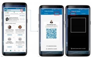 Añadir contactos a LinkedIn mediante Codigo QR
