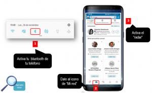 Añadir contactos a LinkedIn mediante el GeoRadar