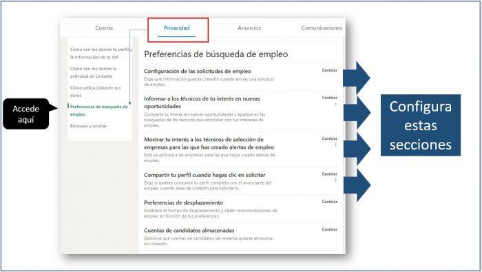 Preferencias en la búsqueda de empleo | LinkedIn