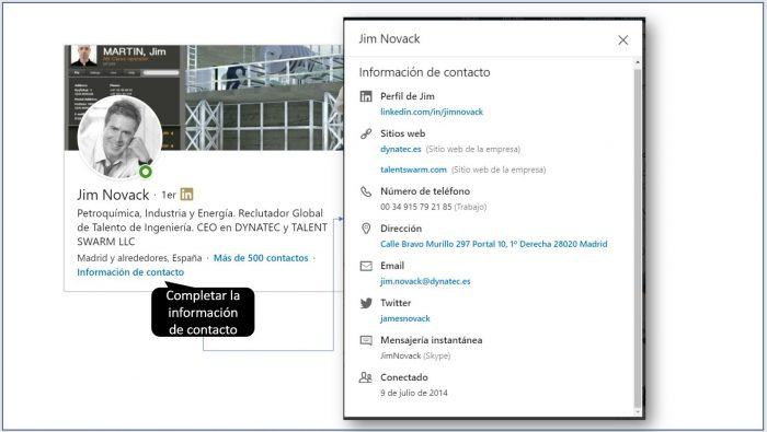 Información de contacto del perfil de LinkedIn | Buscar Empleo en LinkedIn